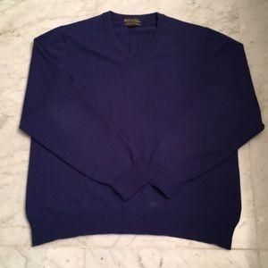Brooks Brothers men's Scottish cashmere sweater